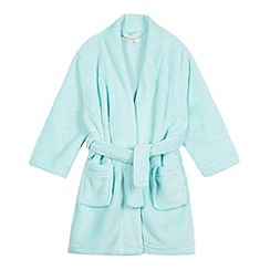 bluezoo - Girl's light green fleece dressing gown