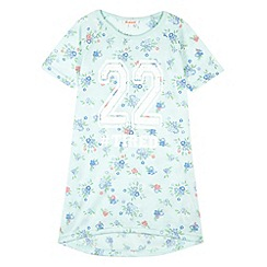 bluezoo - Girl's aqua 'Tired' nightie