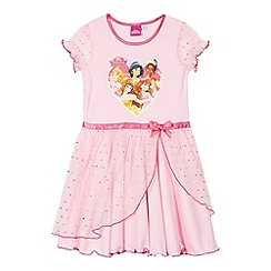 Disney Princess - Girl's pink 'Disney Princess' mesh nightie