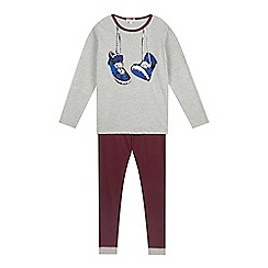 bluezoo - Boy's grey trainer print pyjama set
