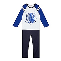 bluezoo - Boy's blue tiger print pyjama set