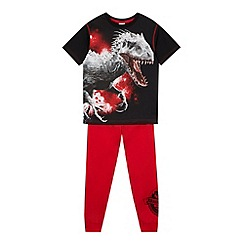 Jurassic Park - Boy's red 'Jurassic World' pyjama set