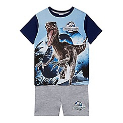 Jurassic Park - Boy's blue 'Jurassic World' t-shirt and shorts pyjama set