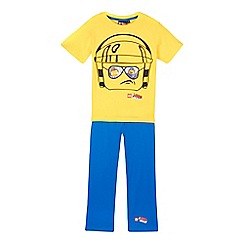Lego - Boy's yellow 'Lego' head pyjamas