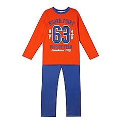 bluezoo - Boy's orange 'Varsity' pyjama set