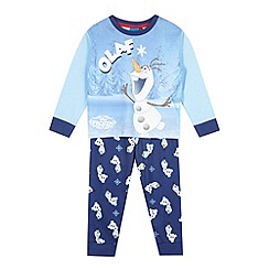 Disney Frozen - Boy's blue 'Olaf' top and bottoms pyjama set