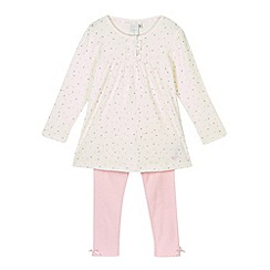 J by Jasper Conran - Girl's cream heart print pyjama set