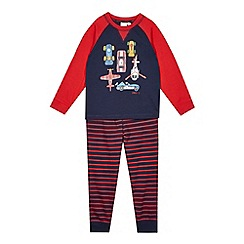 J by Jasper Conran - Designer boy's navy transport print pyjama set