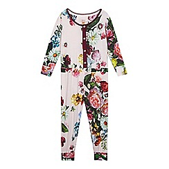 Baker by Ted Baker - Girl's pink floral onesie