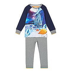 Baker by Ted Baker - Boy's grey 'Arctic Scene' pyjama set