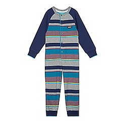 Baker by Ted Baker - Boy's striped jersey romper suit
