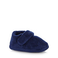 bluezoo - Boys' navy fleece slippers