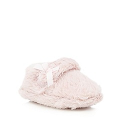 bluezoo - Girls' pink faux fur slipper boots