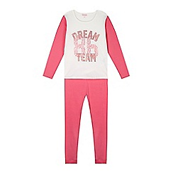 bluezoo - Girl's pink 'Dream Team' pyjama set