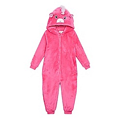 bluezoo - Girls' pink unicorn all in one