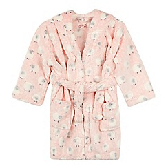 bluezoo - Girls' pink sheep print fleece dressing gown
