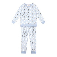 bluezoo - Girls' light blue sheep microfleece pyjamas