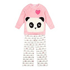 bluezoo - Girls' pink panda pyjama set