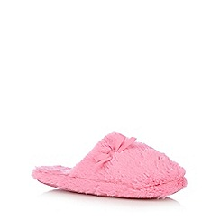 bluezoo - Girls' pink faux fur mule slippers