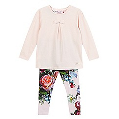 Baker by Ted Baker - Girl's pink floral pyjamas set