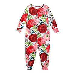 Baker by Ted Baker - Girls' red floral onesie