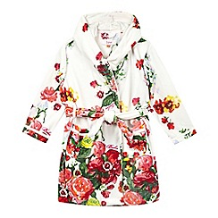 Baker by Ted Baker - Girls' white flower print robe