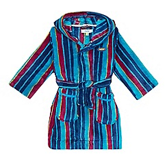 Baker by Ted Baker - Boys' blue striped hooded dressing gown