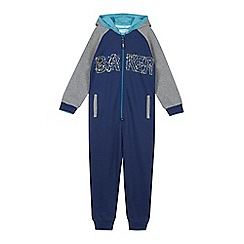 Baker by Ted Baker - Boys' blue hooded sweat all in one