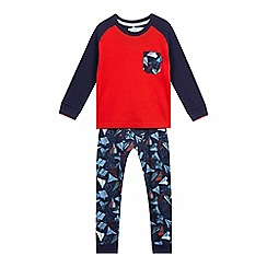 Baker by Ted Baker - Boys' blue and red paper planes pyjama set