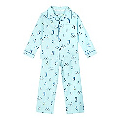 Baker by Ted Baker - Boys' blue penguin top and bottoms pyjama set