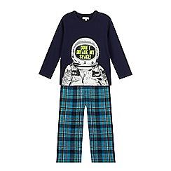 bluezoo - Boys' navy astronaut print pyjama set