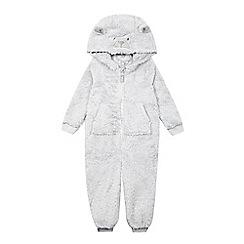bluezoo - Baby boys' grey bear all-in-one