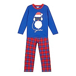 bluezoo - Boys' blue 'Yo ho ho' slogan pyjama set