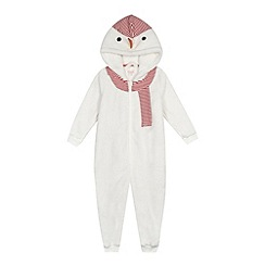 bluezoo - Girls' white snowman onesie
