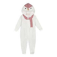 bluezoo - Girls' white snowman onesie