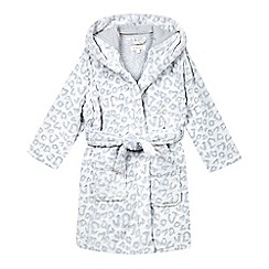 bluezoo - Girls' grey textured animal print robe