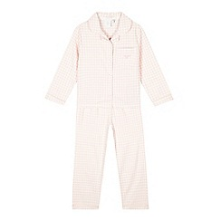 J by Jasper Conran - Girls' pink gingham checked pyjama bottoms