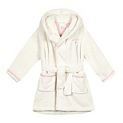 J by Jasper Conran - Girls' cream hooded robe