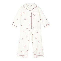 J by Jasper Conran - Girls' pink horse top and bottoms pyjama set