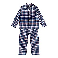 J by Jasper Conran - Boys' blue gingham checked pyjama set