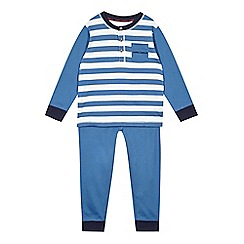 J by Jasper Conran - Designer boy's blue striped pyjama set