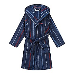 J by Jasper Conran - Boys' navy stripe robe