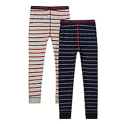 J by Jasper Conran - Set of two grey and navy striped bottoms