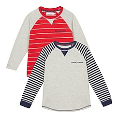 J by Jasper Conran - Pack of two boys' jersey pyjama tops