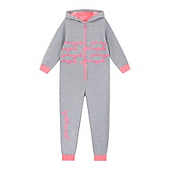 Pineapple - Girls' grey marl hooded all in one