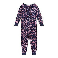 Pineapple - Girls' blue logo onesie