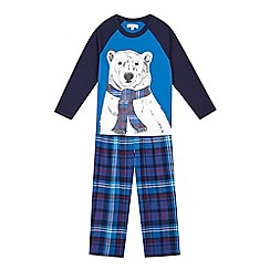 bluezoo - Boys' blue polar bear pyjamas