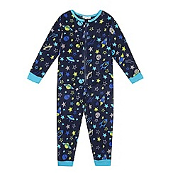 bluezoo - Boys' navy space onesie