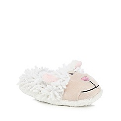 bluezoo - Girls' cream sheep slippers