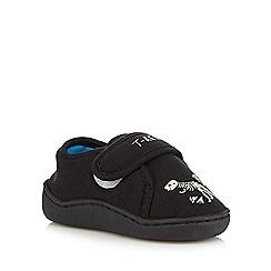 bluezoo - Boys' black T-Rex slippers